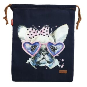 Denim and Co Tote or Library Bag with HTV Boho FUNKY DOG on Front