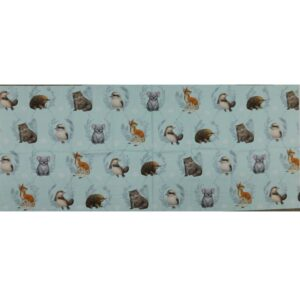 Patchwork Quilting Sewing Fabric AUSSIE ANIMAL FRIENDS Panel 47x110cm New Material