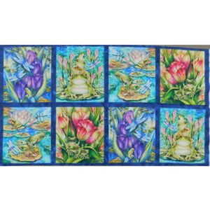 Patchwork Quilting Sewing Fabric WILD FROGS Panel 63x110cm New Material