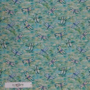 Quilting Patchwork Sewing Fabric DRAGONFLIES 50x55cm FQ New Material