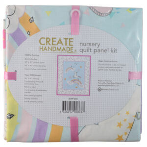 Patchwork Quilting Fabric UNICORN QUILT KIT Nursery Panel New