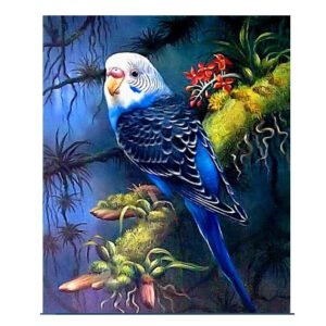 5D Diamond Painting Full Image Square Drills BUDGIE 20x30cm