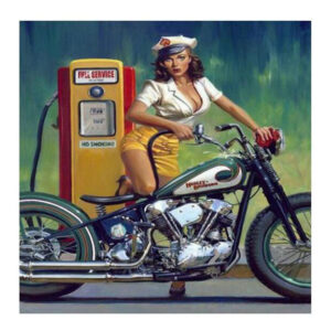 5D Diamond Painting Full Image Square Drills MOTORBIKE CHIC 45x45cm