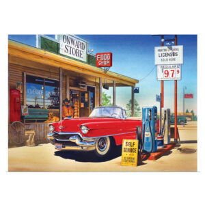 5D Diamond Painting Full Image Square Drills GAS STATION 40x50cm