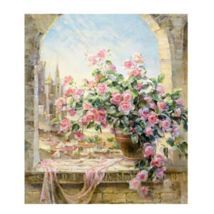 5D Diamond Painting Full Image Square Drills POT OF ROSES 40x50cm