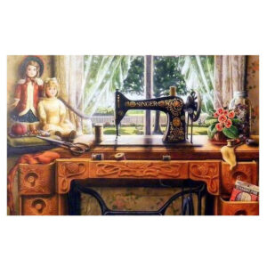 5D Diamond Painting Full Image Square Drills SINGER MACHINE 30x45cm
