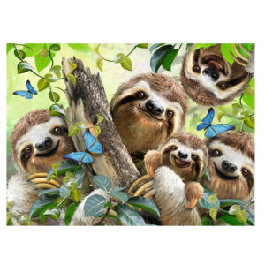 5D Diamond Painting Full Image Square Drills SLOTH FAMILY 40x50cm
