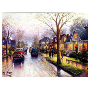 5D Diamond Painting Full Image Square Drills RAINY ROAD 40x50cm