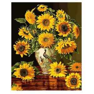 5D Diamond Painting Full Image Square Drills SUNFLOWERS 40x50cm