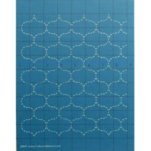 Quilting Full Line Stencil SASHIKO FISH NET Reusable A4 use with Pounce