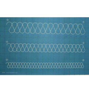 Quilting Full Line Stencil RIBBON CANDY Reusable A3 New