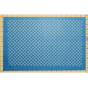 Quilting Full Line Stencil HALF INCH GRID ON POINT Reusable A3 use with Pounce