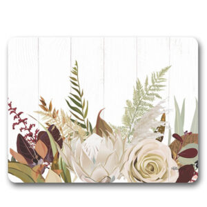 Kitchen Cork Backed Placemats AND Coasters NATIVES PROTEA Set 6 New