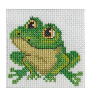 BEUTRON Cross Stitch Kit For Beginner FROG 7x7cm 578103 New