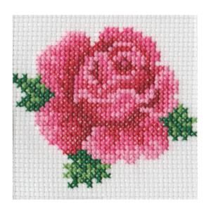 BEUTRON Cross Stitch Kit For Beginner ROSE 7x7cm 578106 New