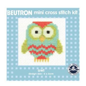 BEUTRON Cross Stitch Kit For Beginner OWL 6x6cm BM6047 New