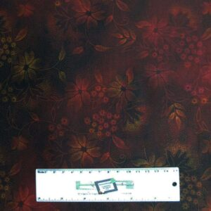 Quilting Patchwork Sewing Fabric JASON YENTER SEASONS DARK RED 50x55cm FQ New
