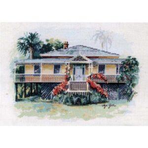 DMC Cross Stitch Kit HISTORICAL QUEENSLANDER House New Olga Gostin OG007