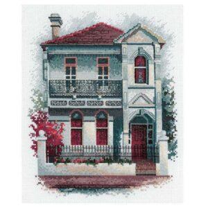 DMC Cross Stitch Kit VICTORIAN TERRACE House New Olga Gostin OG010