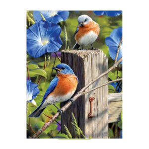 5D Diamond Painting Full Image Square Drills BLUE BIRDS 40x50cm