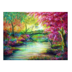 5D Diamond Painting Full Image Square Drills PAINTED BRIDGE 40x50cm New