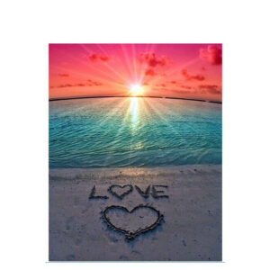 5D Diamond Painting Full Image Square Drills SUNSET LOVE 30x45cm New