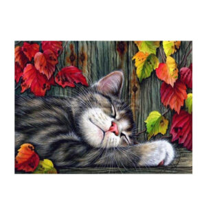 5D Diamond Painting Full Image Square Drills NAPPING CAT 30x40cm