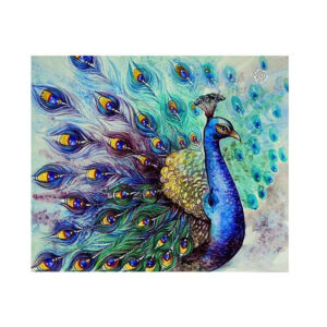 5D Diamond Painting Full Image Square Drills PEACOCK 40x50cm New