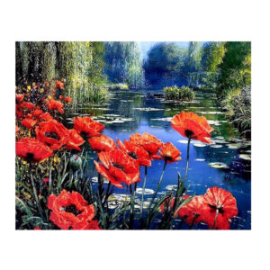 5D Diamond Painting Full Image Square Drills POPPY FLOWERS 40x50cm New