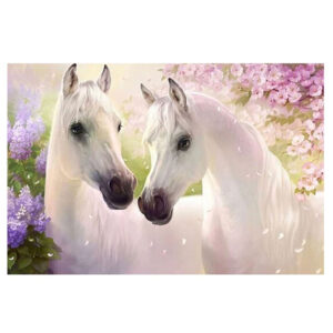 5D Diamond Painting Full Image Square Drills WHITE HORSES 30x45cm New