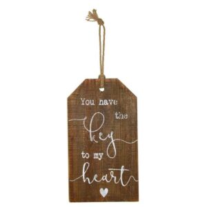 Country Vintage Inspired Wooden Sign YOU HAVE THE KEY TO MY HEART Rustic New
