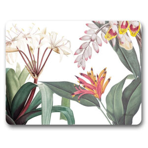 Kitchen Cork Backed Placemats AND Coasters LUSH FLORAL Set 6 New