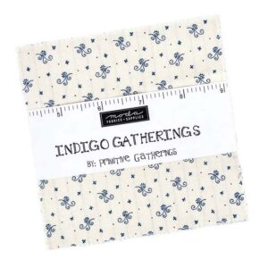 Quilting Charm Pack Patchwork MODA INDIGO GATHERINGS 5 Inch Sewing Fabrics