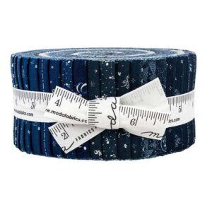 Quilting Jelly Roll Patchwork MODA INDIGO GATHERINGS 2.5 Inch Sewing Fabrics