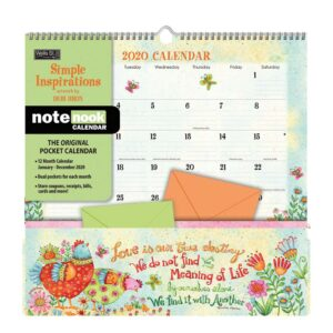 2020 Wells Street NOTE NOOK Calendar SIMPLE INSPIRATIONS New by Debi Hron