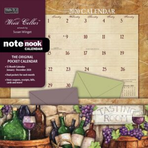 2020 Wells Street by Lang NOTE NOOK Calendar WINE CELLAR New