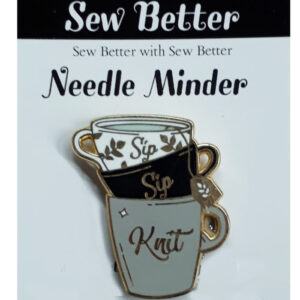 Sew Better Cross Stitch Embroidery Needle Minder Keeper Sip Sip Knit
