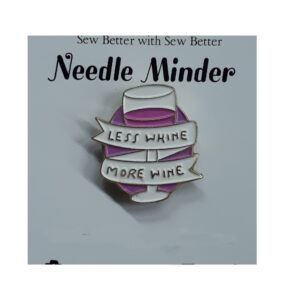 Sew Better Cross Stitch Embroidery Needle Minder Keeper MORE WINE