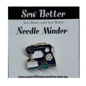 Sew Better Cross Stitch Needle Minder Keeper BLACK MACHINE