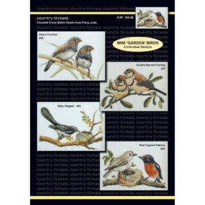 Country Threads Cross X Stitch Pattern Graph MINI GARDEN BIRDS FJP-105-08 (CT)