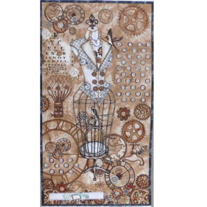 Patchwork Quilting Sewing Fabric STEAMPUNK DRESSFORM 60x110cm New