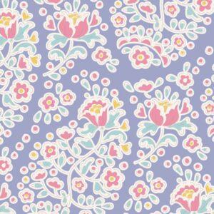 Quilting Patchwork Sewing Fabric TILDA HAPPY CAMPER CHARLENE BLUE 50x55cm FQ