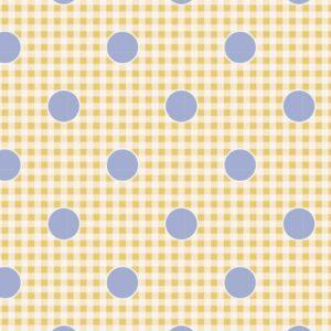 Quilting Patchwork Fabric TILDA HAPPY CAMPER GINGDOT EGGNOG 50x55cm FQ