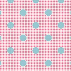 Quilting Patchwork Fabric TILDA HAPPY CAMPER GINGDOT ROSE 50x55cm FQ