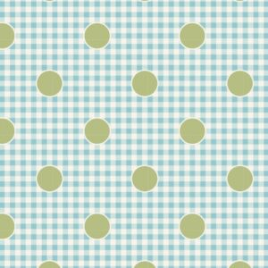Quilting Patchwork Fabric TILDA HAPPY CAMPER GINGDOT TEAL 50x55cm FQ