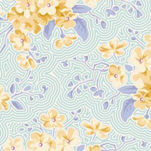 Quilting Patchwork Sewing Fabric TILDA HAPPY CAMPER PRIMROSE TEAL 50x55cm FQ