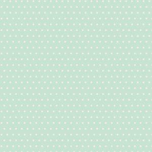 Quilting Patchwork Sewing Fabric AQUA BLUE SPOTS 50x55cm FQ New