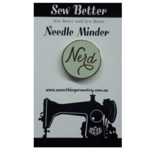 Sew Better Cross Stitch Needle Minder Keeper NERD