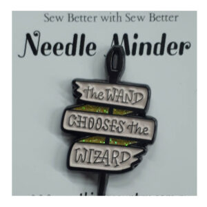 Sew Better Cross Stitch Needle Minder Keeper WAND CHOOSES WIZARD