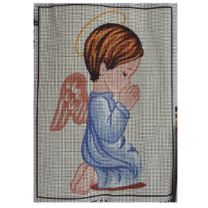 Collection D'Art Printed Tapestry Needlepoint ANGEL BOY PRAYING 22x30cm